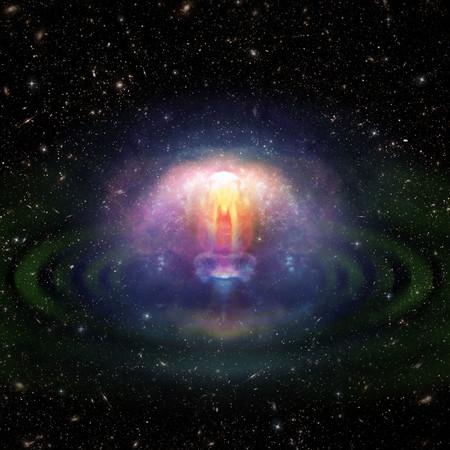 Artist's impression of neutron star merger