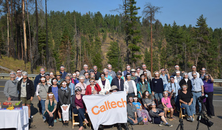 Caltech Associates President's Circle members watch the recent eclipse in Oregon.