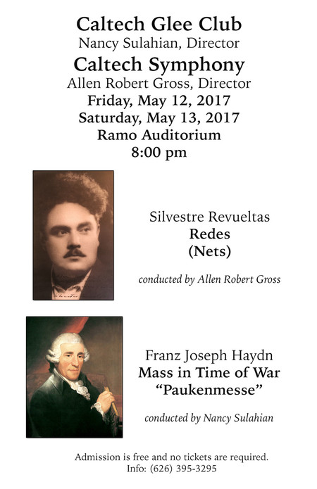 poster for concerts on May 12 and May 13, 2017
