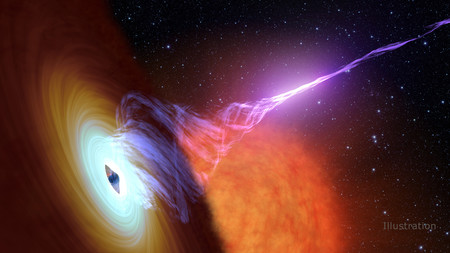 Artist concept of black hole jet