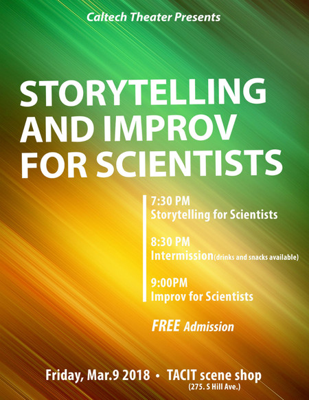 poster for Storytelling & Improvisation for Scientists