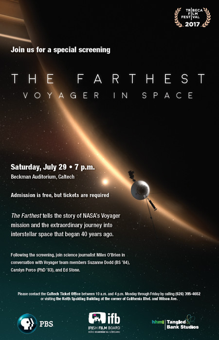 "final poster for screening of ""The Farthest"""