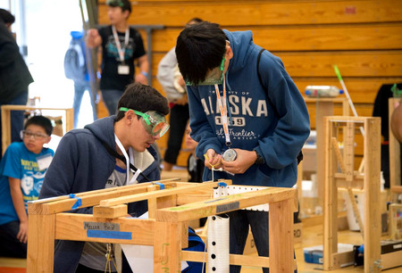 Teams of students from 62 schools gathered at Caltech April 8 to show off their science and engineering knowledge and skills.