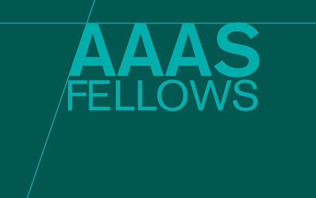 """the words """"AAAS Fellows"""" on a green background"""