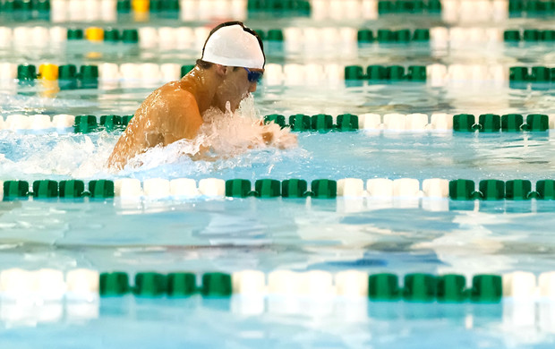 Thomas Gallup won individual conference titles in the 100- and 200-yard breaststroke in the Southern California Intercollegiate Athletic Conference February 17 and 18.