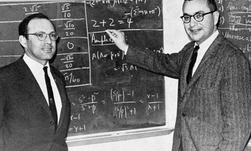 Yuval Ne'eman and Murray Gell-Mann in 1964.