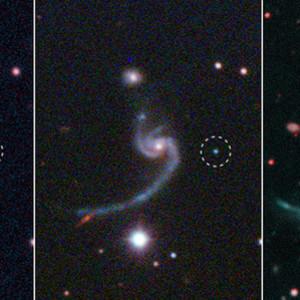 Three panels illustrating the life of a supernova