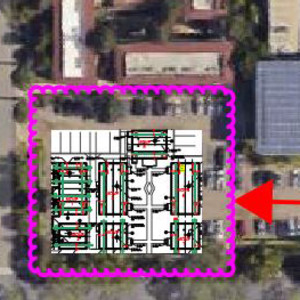 Image showing the route that trucks will take to relocate the bungalows.