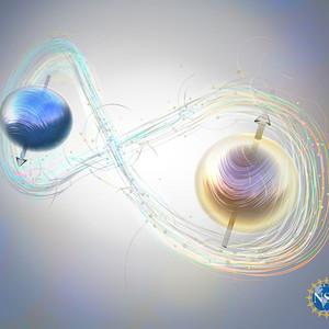 Artist concept of quantum realm