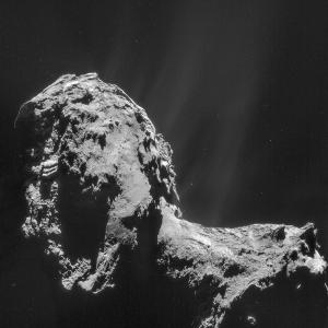 Composite Rosetta image of comet 67P/Churyumov-Gerasimenko.
