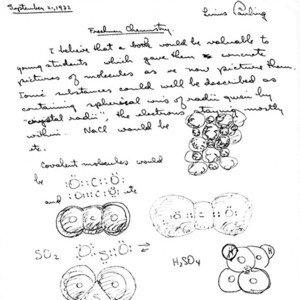 Linus Pauling's chemical diagrams