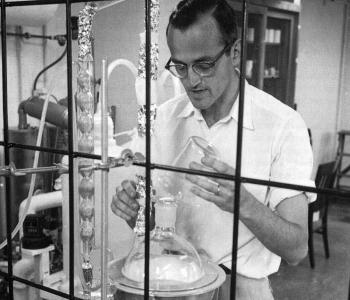 Clair Patterson and distillation apparatus.