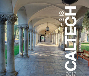 image of front cover of the Caltech Overview Book for 2017