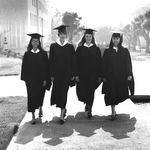 photo of Caltech's first four female BS graduates