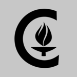 image of the Caltech icon on a gray background
