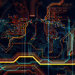 colorful circuit board image