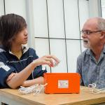 Caltech junior Kevin Li and his mentor Julian Bunn