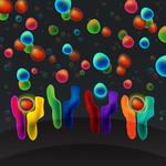 Artist depiction of ligands and receptors