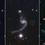 Three panels illustrating the life of a supernova