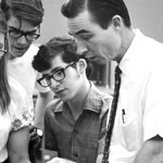 A 1971 photo of Mead with students