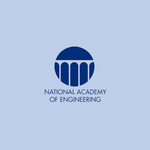 logo of the National Academy of Engineering on a blue background