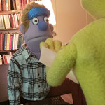 photo of Avenue Q's Princeton and Rod in conversation