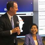 Adam Schiff, Judy Chu, and Thomas Heaton