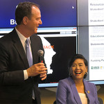 Adam Schiff, Judy Chu, and Thomas Heaton