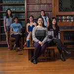 From left to right: Alice Zhai, ASCIT social director; Kavya Sreedhar, ARC chair; Gabby Tender, Dabney president; Diandra Almasco, Blacker president; Sandra Liu, Ruddock president; Grace Chen, IHC secretary; Rachael Morton, IHC chair; Amanda Lin, Avery pr