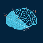 The logo of a brain for Caltech's new neuroscience lecture series