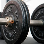 Closeup of free weights