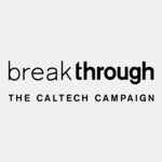 logo for the Caltech Break Through Campain, with black text on grey background