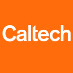 white Caltech logo on orange background
