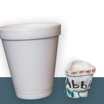The styrofoam cup at right was crushed by intense pressure more than 1,000 meters below the surface of sea.