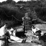 Photo: JPL rocketry pioneers test rocket engines in Pasadena's Arroyo Seco in 1936.