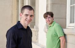 2015 Hertz Foundation Fellows Charles Tschirhart (left) and Adam Jermyn (right)
