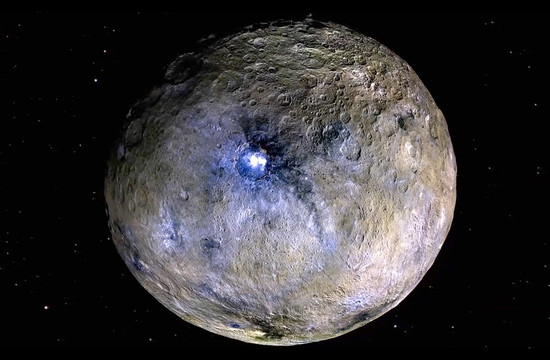false-color image of the surface of Ceres