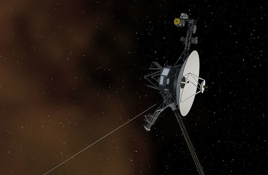 artist's concept depicting NASA's Voyager 1 spacecraft entering interstellar space