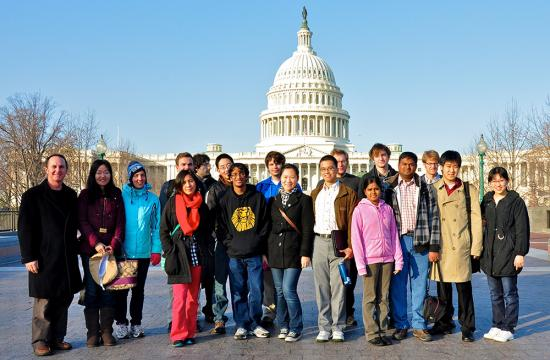 Caltech undergraduates on the Caltech Y's annual Science Policy Trip to Washington, DC