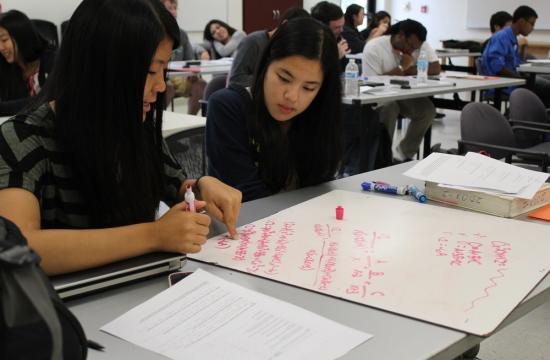 Caltech undergraduates tutor local students in math and science.