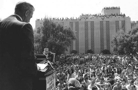 Senator Eugene McCarthy at Caltech in 1968