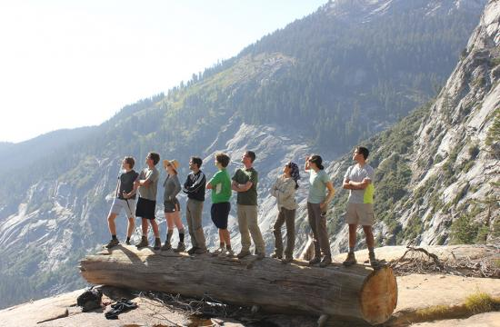 Caltech students hiking in the Sierras