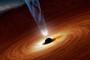 artist's concept of a supermassive black hole