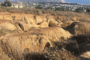 Gullies in a hillside above Ventura as seen from the Frosh Camp geology hike.