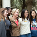 photo of Frances Arnold with students after the ceremony.