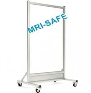 MRI-Safe Mobile Leaded Aluminum Barrier with Window, #LB-3060-MRI