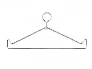 Closed Top Chrome Wire Apron Hanger