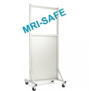 MRI-Safe Mobile Leaded Aluminum Barrier with Window, #LB-2430-MRI