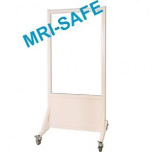 MRI-Safe Mobile Leaded Aluminum Barrier with Window, #LB-3048-MRI