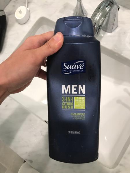 Suave Professional Men 3-In-1 Citrus Rush Shampoo+Conditioner+Bodywash